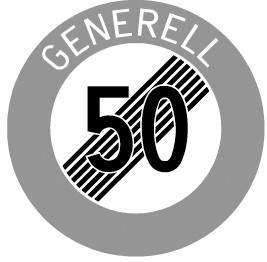 """2.53.1 Ende der Höchstgeschwindigkeit """"50 Generell"""""""