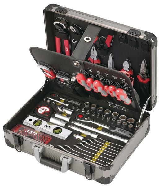 Werkzeugkoffer gefüllt