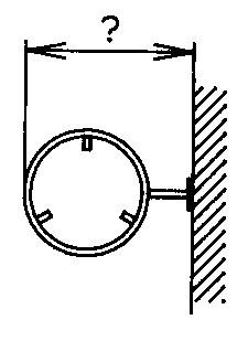 Rohrrahmen mit Wandplatte für runde Signale