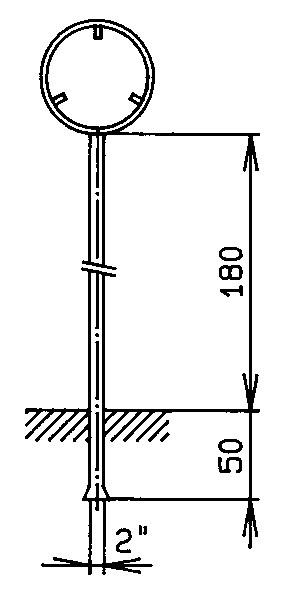 """Standrohr 2"""" mit Rohrrahmen für Signal rund"""