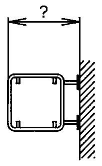 Rohrrahmen mit Wandplatte für Signal 50/50cm