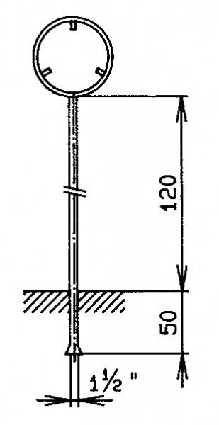 """Standrohr 1,5"""" mit Rohrrahmen für Signal rund"""