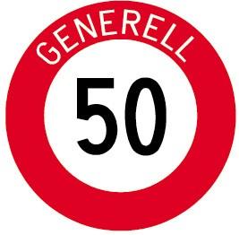 """2.30.1 Höchstgeschwindigkeit """"50 Generell"""""""